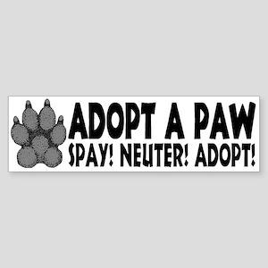Adopt A Paw: Spay! Neuter! Ad Bumper Sticker