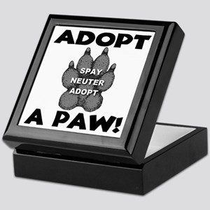 Adopt A Paw: Spay! Neuter! Ad Keepsake Box