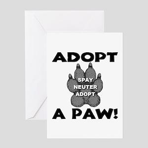 Adopt A Paw: Spay! Neuter! Ad Greeting Card