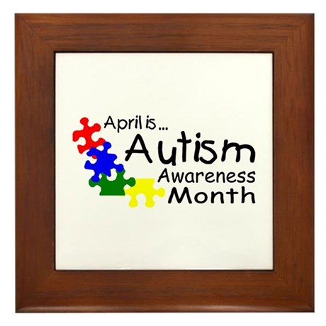 April Is Autism Awareness Month Framed Tile