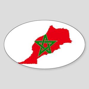 Vintage Maroc Oval Sticker