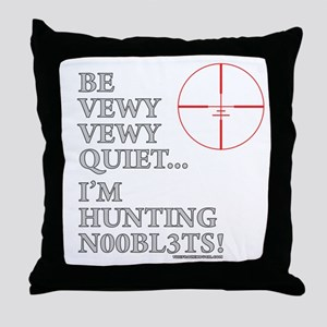 Hunting N00bl3ts Throw Pillow