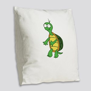 Cute Flossing Turtle Cool Turt Burlap Throw Pillow