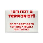 I am NOT a terrorist! Rectangle Magnet