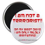 """I am NOT a terrorist! 2.25"""" Magnet (100 pack)"""