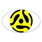 Vinyl Lives Oval Sticker (10 pk)