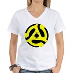 Vinyl Lives Women's V-Neck T-Shirt