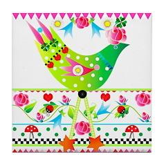 Feather Friends Tile Coaster