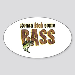 Kick Bass Oval Sticker