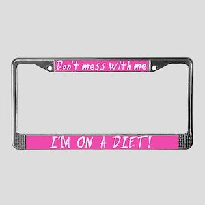 I'm On a Diet License Plate Frame