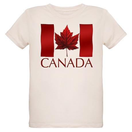 Canada Flag Organic Kids T-Shirt