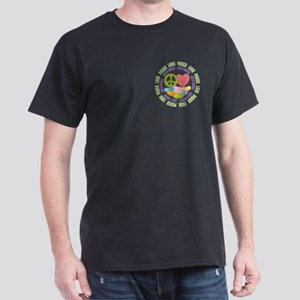 Peace Love Jelly Beans Dark T-Shirt