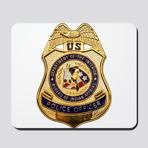 BIA Police Officer Mousepad