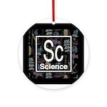 Science Retro Ornament (Round)