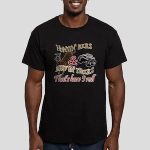 Drivin' Trucks & Huntin' Bucks Men's Fitted T-Shir