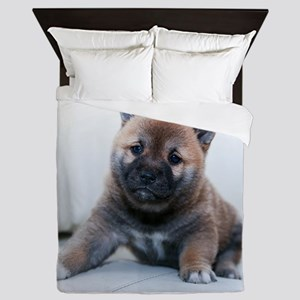 German Shepherd Puppy Queen Duvet
