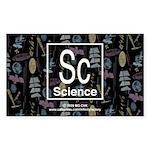 Science Retro Rectangle Sticker 50 pk)
