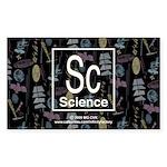 Science Retro Rectangle Sticker