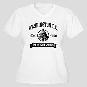 Washington DC Women's Plus Size V-Neck T-Shirt
