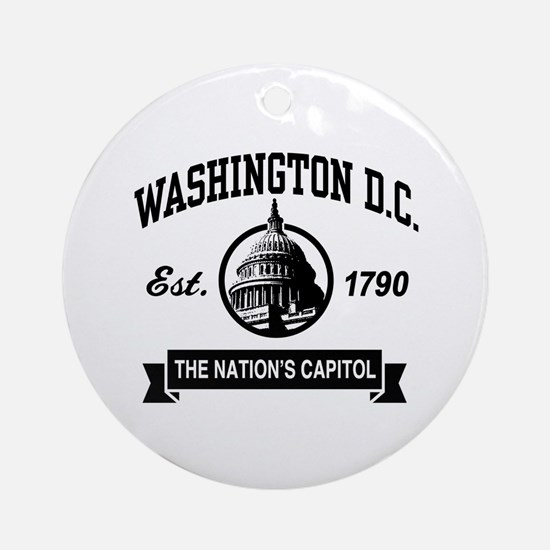 Washington DC Round Ornament