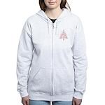 Breast Cancer Awareness Chris Women's Zip Hoodie
