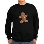 Pink Ribbon Gingerbread Man S Sweatshirt (dark)