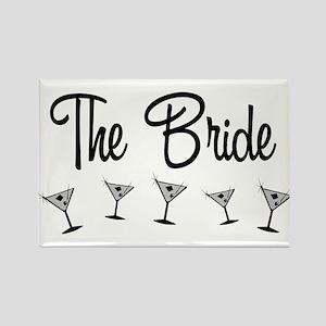 B&W M-Martini Bride Rectangle Magnet