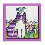 BIRD BRAIN No. 2... Whimsical Tile Coaster