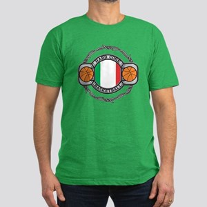 Italy Basketball Men's Fitted T-Shirt (dark)