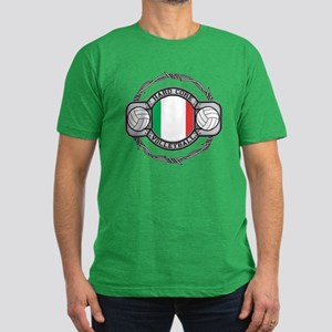 Italy Volleyball Men's Fitted T-Shirt (dark)