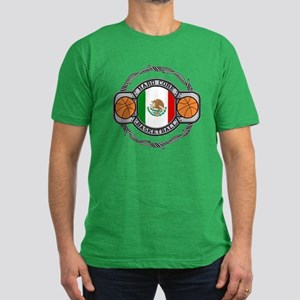 Mexico Basketball Men's Fitted T-Shirt (dark)