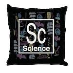 Science Retro Throw Pillow