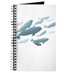 Beluga Whales Journal Notebook Diary Wildlife Art
