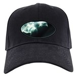 Beluga Whales Black Baseball Cap Wildlife Art
