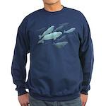 Beluga Whales Sweatshirt (dark) White Whale Shirts