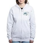 Beluga Whales Women's Zip Hoodie Whale Art Hoodie