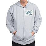 Beluga Whales Zipper Hoodie Marine Wildlife Hoodie