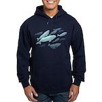 Beluga Whales Hoodie (dark) Marinelife Art Hoodie