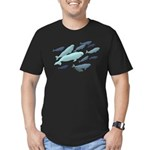 Beluga Whales Men's Fitted T-Shirt (dark)