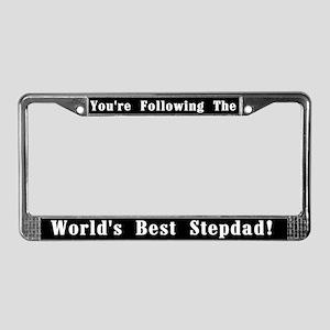 World's Best Stepdad License Plate Frame
