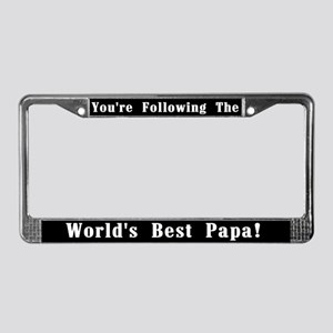 World's Best Papa License Plate Frame