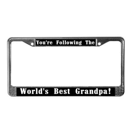 World S Best Grandpa License Plate Frame By Peacockcards
