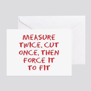 measure force Greeting Card