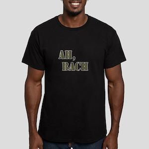 Ah, Bach Men's Fitted T-Shirt (dark)