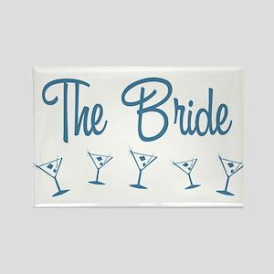 Blue M-Martini Bride Rectangle Magnet