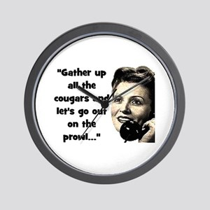 GATHER UP COUGARS.. Wall Clock