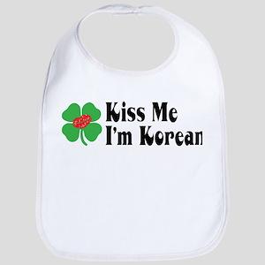Kiss Me I'm Korean Bib