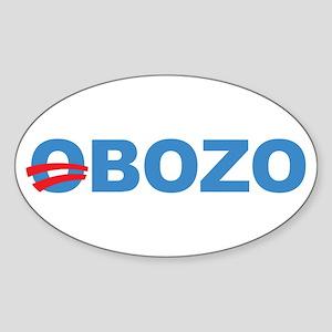 Anti Barack Obama Oval Sticker