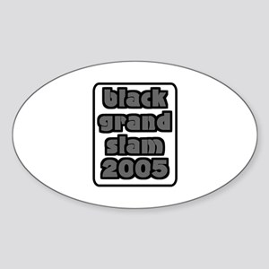 Black Grand Slam Rugby Tour Oval Sticker