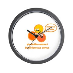 MRSA Wall Clock